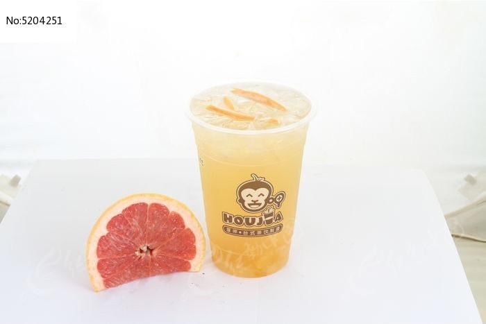 红心柚酵素果饮图片