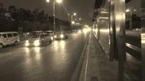 晚上交通黑白图