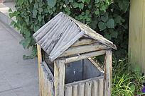 休闲场所垃圾桶图片