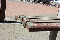 休闲场所休息木椅图片