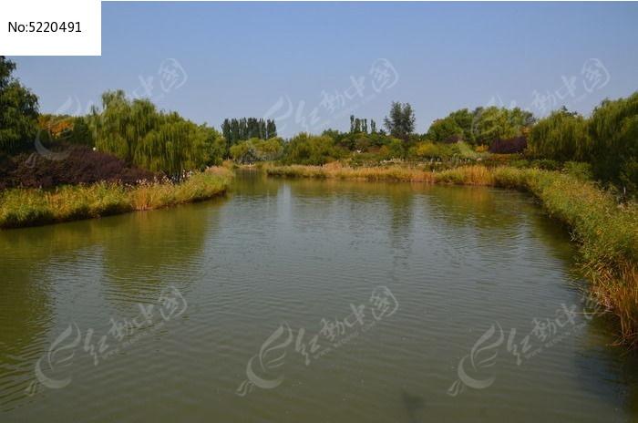 园林湖泊图片