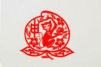 猴十二生肖剪纸