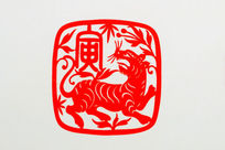 虎十二生肖剪纸