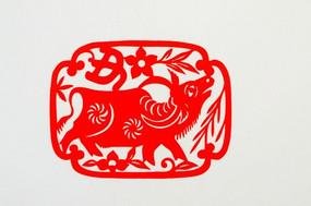 牛十二生肖剪纸