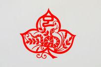 蛇十二生肖剪纸