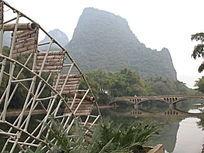 桂林的水车桥梁