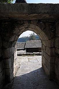 石板镇围村墙