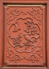 喜鹊和梅花的木雕