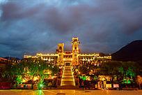 中国古羌城夜色