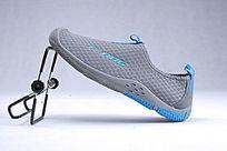 蓝色网布鞋单鞋横靠立