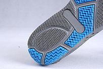 蓝色网布鞋鞋底细节