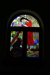 北京亚斯立堂基督教会崇文门堂的彩色窗户
