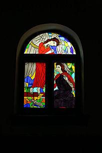 北京亚斯立堂基督教会崇文门堂的红色窗户