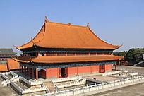 琉璃瓦宫殿建筑