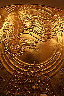 中华世纪坛雕刻凤凰图案
