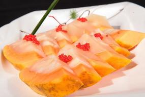 澳带鱼籽木瓜冻