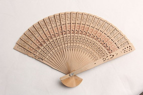 艺术纸扇百折扇子