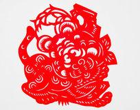 喜庆的春节剪纸老虎