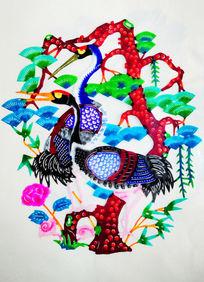 中国剪纸--松鹤延年