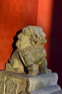 开元寺门口的石狮