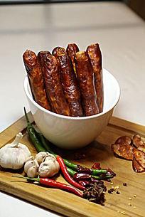 腊肉香肠新年礼摄影