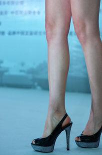 模特双腿特写