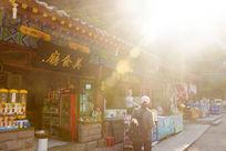 泰山古建筑阳光