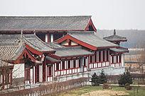 典型的唐朝建筑群一角