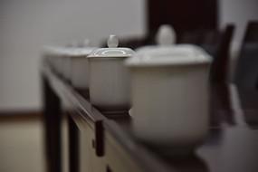 会议室茶杯摆放
