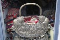 少数民族的象文图案银饰挂牌