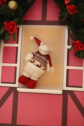 圣诞节毛绒娃娃节日素材
