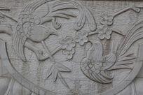 喜上眉梢喜鹊与梅花石刻
