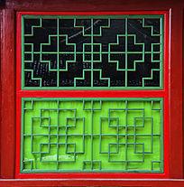 长方形木制窗格边框上下开窗玻璃窗户