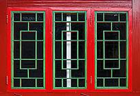 长方形木制窗格边框左右开窗玻璃窗户