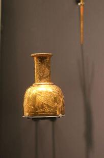 清凤凰图案鎏金瓶