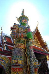 泰皇宫雕塑人