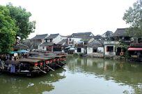 西塘水乡码头宁静的清晨