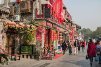 护国寺美食街大红灯笼