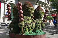 儿童形象景观雕塑