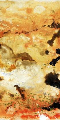 抽象油画玄关端景背景墙