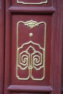 广济寺木门上金边回形线条边框
