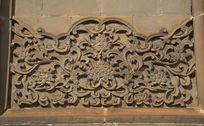 莲花花纹石雕