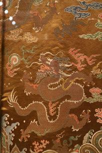 清代雍正龙袍龙纹图案