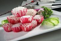 菊花水萝卜