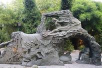 《偷窃息壤》大禹治水雕塑