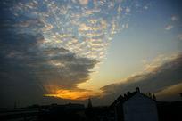 云层落日夕阳