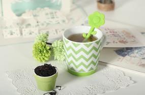 绿色马克杯
