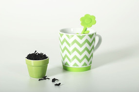 绿色条纹饮水杯