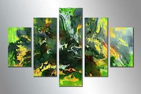 抽象油画三联画