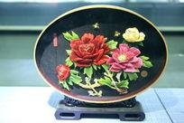 传统工艺堆锦花开富贵牡丹花